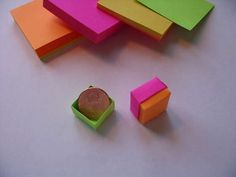 origami post-it note box