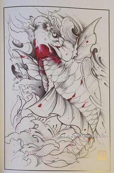传统鲤鱼纹身 鱼纹身