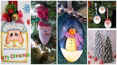 Adornos navideños con cucharas de cocina. ¡Creatividad al poder!