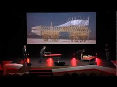 I like this TEDxDelft talk by Theo Jansen. His talk is well organized, with lots of interested visuals & demonstrations, humor and he has clearly worked on his English! Few uhs and ahs.
