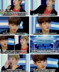 Jungkook loves his hyungs just as much as they love him ❤