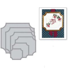 Double window with cottage border die cut for cards or scrapbook 6 pieces