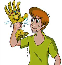 A silly doodle for the fun of it shaggy crushing thanos gauntlet Shaggy Rogers, Tf2 Memes, Brave And The Bold, Cartoon Crossovers, Really Funny Memes, Cool Drawings, Horror Movies, Cartoon Art, Scooby Doo