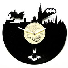 Horloge vinyle moderne horloge murale par secondlifeforvinyl