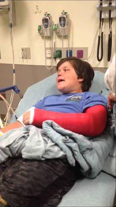 Walker broke his arm