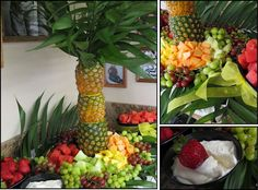 MOMS CRAZY COOKING: Pineapple Fruit Tree & Creamy Fruit Dip {TWC Linky Party #92 - Summer Fruits & Salads}