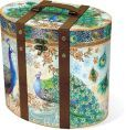 Royal Peacock Tall Oval Box Large ( 10 x 7.75 x 9)