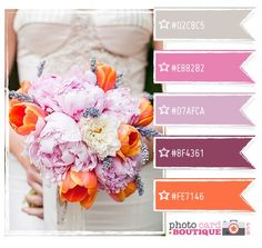 purple, pink, coral... Great colour combo!