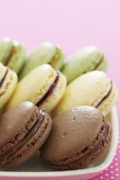 Chocolate-Hazelnut Macarons:  Even if a trip to Paris isn't in the cards, these French macarons will bring to mind a romantic evening strolling around the City of Love.