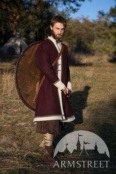 Manteau de laine cafetan de Viking «Bjorn le Guerrier» à vendre chez ArmStreet