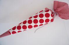 Schultüte, Zuckertüte, Die Rote von ruhrgebluemt auf DaWanda.com