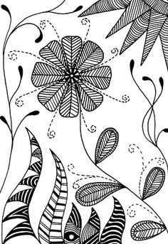 zentangle flower - Zentangle - More doodle ideas - Zentangle - doodle - doodling - zentangle patterns. zentangle inspired - #zentangle #doodling #zentanglepatterns