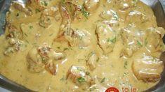 Zapečené bravčové mäso s cesnakom, horčicou a zeleninou na jednom pekáči:  Mäsko mäkké a krásne šťavnaté a prílohu už robiť nemusíte! Food 52, Cheeseburger Chowder, Pork, Food And Drink, Menu, Yummy Food, Treats, Homemade, Chicken