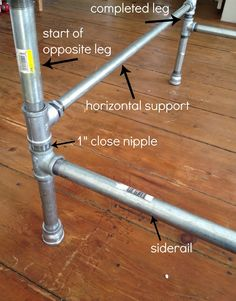 Pipe bed frame DIY