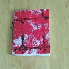 Red Pattern Note Book - Cover made from Screenprint titled 'She Could See Another Garden' by CherryfieldLane on Etsy Notebook Covers, Red Pattern, Garden S, Screen Printing, Notes, Unique Jewelry, Handmade Gifts, Etsy, Vintage