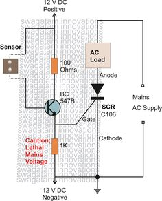 In this article we are going to learn many interesting SCR application circuits and also learn the main features and properties of an SCR also called a thyristor device. Electronic Circuit Design, Electronic Engineering, Electrical Engineering, Electronics Storage, Electronics Components, Electronics Projects, Tesla Free Energy, Battery Charger Circuit, Ham Radio