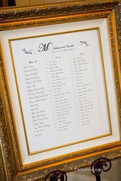 Make a simple display more decorative with a metallic frame or easel.Photo Credit: TImothy Whaley