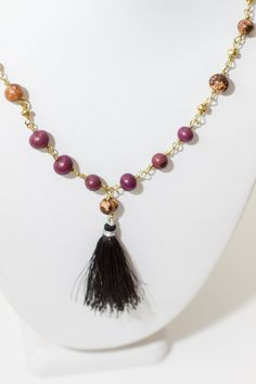Sale / Wire Wrapped Acai Seed Necklace.  by ManaFestJewelry