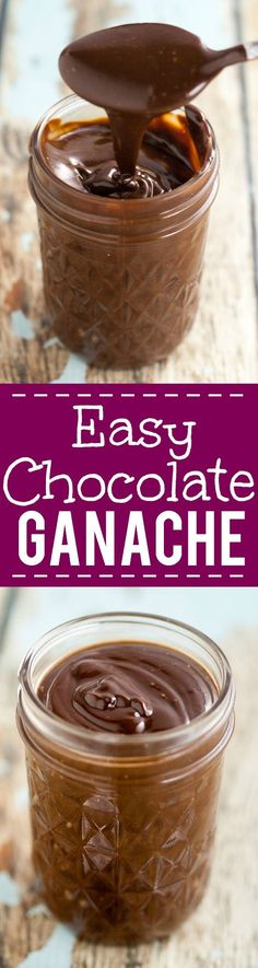 Easy Chocolate Ganache Recipe - Make this scrumptious and rich Easy Chocolate Ganache recipe with just 3 ingredients in 15 minutes! Perfect for cupcakes, cake filling, truffles, and more! A must have  (Chocolate Frosting For Brownies)