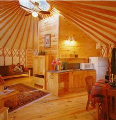 """""""We talk all the time about living with less; Dave lives in 706 square feet YURT with off grid power, a composting toilet, a shower and a full kitchen and didn't give anything up at all to live in comfort and style. When you live in 706 square feet you don't need much to run it;"""