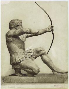 Image Title:  [Greek archer.]  Creator: Dujardin, P. -- Photographer  Additional Name(s): Imprimerie Eudes -- Printer  Specific Material Type: Prints  Item Physical Description: 1 photographic print : sepia ; 24 x 19 cm. (9 1/2 x 7 1/4 in.)