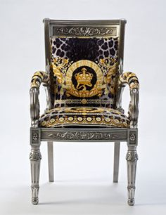Versace Home chair This chair could make a statement in a room! <3