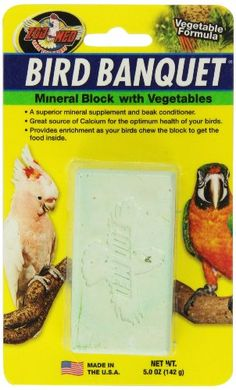 Zoo Med Mineral Block with Vegetables Bird Banquet 5Ounce *** Read more  at the image link.Note:It is affiliate link to Amazon.