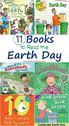 11 Books to Read this Earth Day - So many good books to teach preschoolers and toddlers about helping the environment! - Earth Day books for kids - Books about Earth Day: