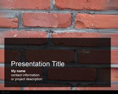 Bricks PowerPoint Template is a free brick PowerPoint template background for presentations