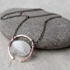 Rose Quartz Necklace Universal Love Stone Copper or Sterling Silver Oxidized Hammered Wire Pendant Gemstone Necklace Heart Chakra Gift Crystal Jewelry, Boho Jewelry, Sterling Silver Jewelry, Beaded Jewelry, Handmade Jewelry, Silver Ring, Silver Earrings, Jewellery Box, Fashion Jewelry