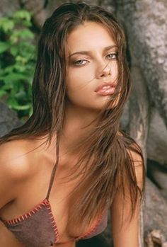Adriana Lima sexy portrait of this Brazilian model. Calendars of hot women models at sexy-calendars.com Featuring sexy women in bikinis, lingerie and swimsuits!