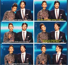 Ian Somerhalder and Nina Dobrev at the 2014 People's Choice Awards....guys, I don't know whether I should laugh or cry.