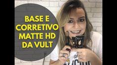 Testei: Base e Corretivo Alta Cobertura Matte HD da VULT + Pincel Escova!