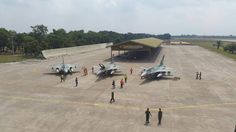 Indonesia Air Forces New F-16 C/D arrive at Iswahjudi AFB. These 3 F-16s were part of the 24 F-16 granted by the US gov, and then upgraded to equivalent of Block 52 standard.