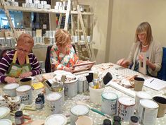 Marlene, Jules & Sue - deep in concentration . . .