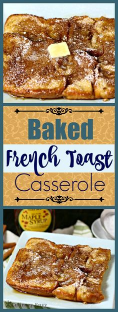 Baked French Toast Casserole with brioche toast and caramelized topping makes the perfect easygoing and tasty make-ahead breakfast or brunch anytime of year! Click to read more or pin & save for later!