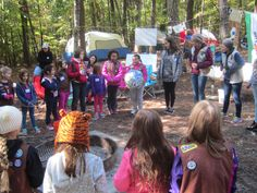 """Senior Troop #1021 used their amazing leadership skills to host a """"Wonders of Water"""" journey-themed camping trip to Falls Lake! Six Brownie troops participated, and the Seniors taught them about water safety and camping skills! Wow! Way to serve as great role models, Girl Scouts!"""