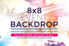 Watercolor Event Backdrop Template by @Graphicsauthor