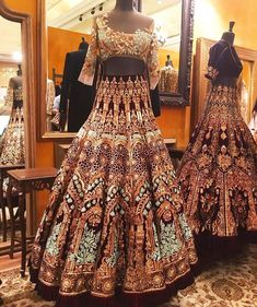 Manish malhotra Indian designer bridal wear lengha detailing