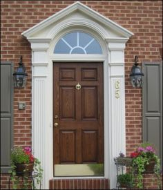 door | White Swan Homes and Gardens: Front Entrance Doors For Curb Appeal. May use for doll house