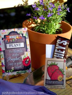Plant the Words of the Prophet Deep in your Heart -   VT Handouts | Pink Polka Dot Creations