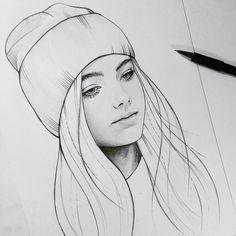 Sketchin art i 2019 drawings, art sketches och realistic drawings в яндекс. Tumblr Drawings, Girly Drawings, Pencil Art Drawings, Realistic Drawings, Easy Drawings, Amazing Drawings, Girl Drawing Sketches, Girl Sketch, Drawing Style
