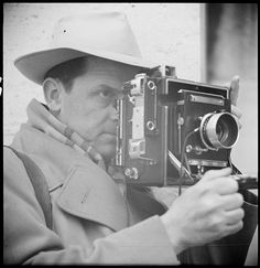 Photographer René-Jacques in action, May 1950.