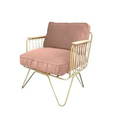 Croisette White and Powdered Pink Velvet Armchair Honoré Children- A large selection of Design on Smallable, the Family Concept Store - More than 600