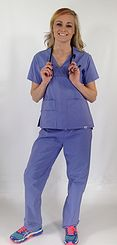 Our WINGS mock wrap style certified antimicrobial uniforms