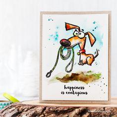 Masterpiece Box, Blop Hop And Giveaway Tim Holtz Dogs Crazy Bird, Crazy Dog, Crazy Cats, Crazy Animals, Dog Cards, Bird Cards, Tim Holtz Stamps, Doodle Designs, Animal Cards