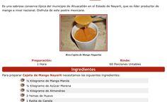 Receta cajeta de mango