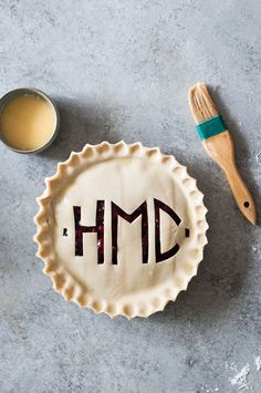 The best way keep a fresh baked pie all to yourself? Carve your initials in it!