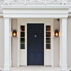 Navy Front Door, Transitional, Home Exterior