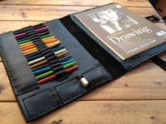 Professional artist portfolio and iPad case  by LUSCIOUSLEATHERNYC, $265.00